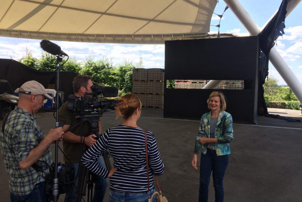 Loreleybühne mit Kamerateam